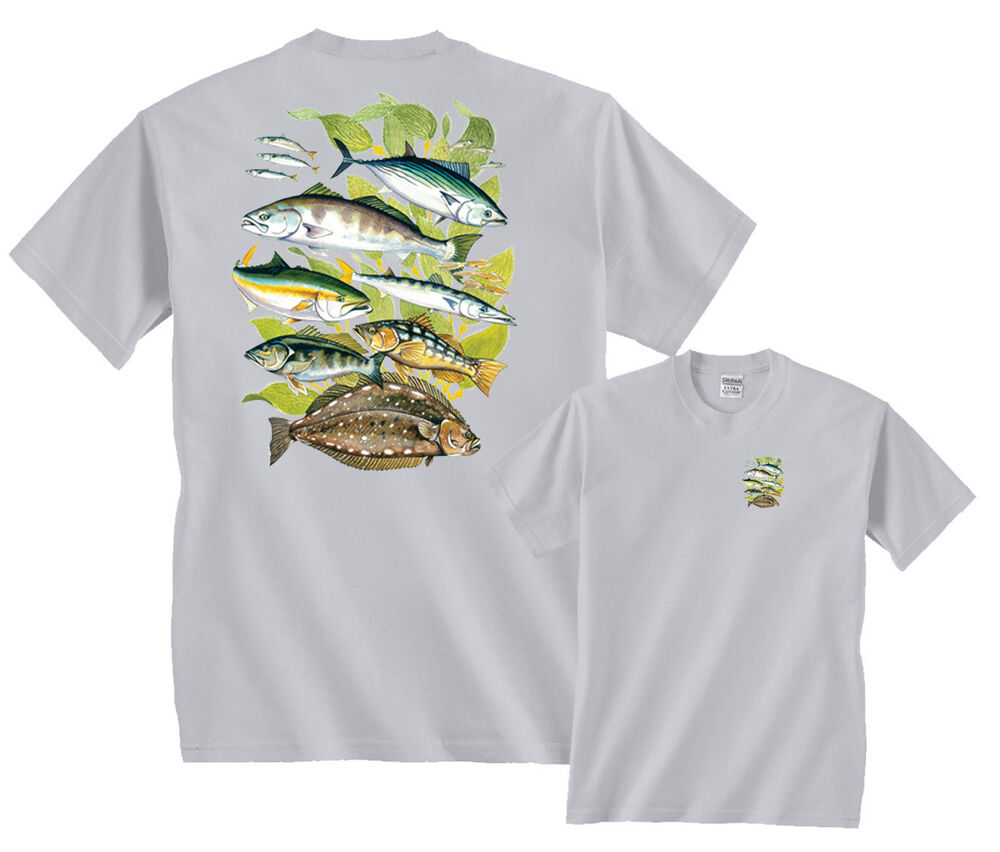 fathom fish saltwater fishing t shirt clearance ebay