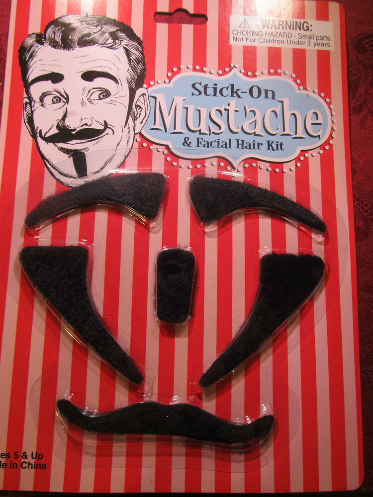 Costume Hairy Black Stick On Mustache Eyebrow Gotte