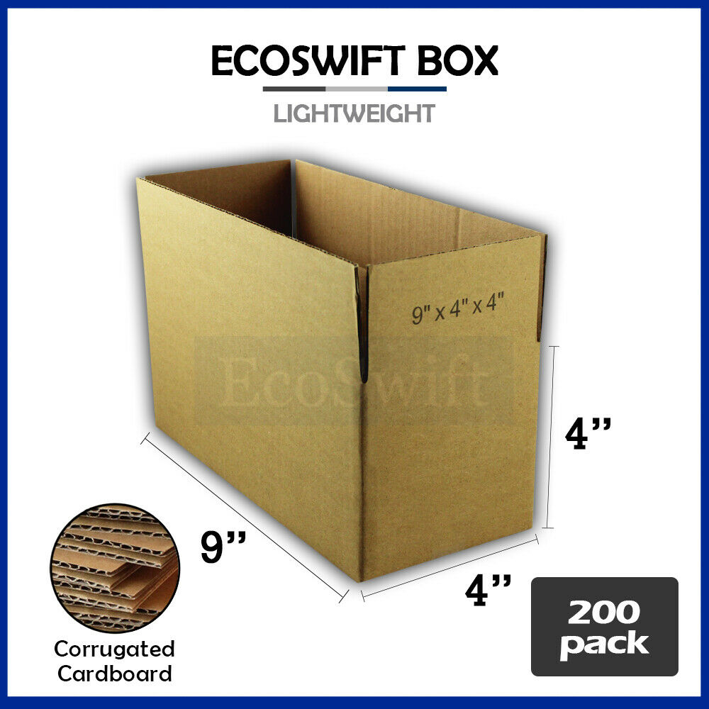 200 9x4x4 Cardboard Packing Mailing Moving Shipping Boxes