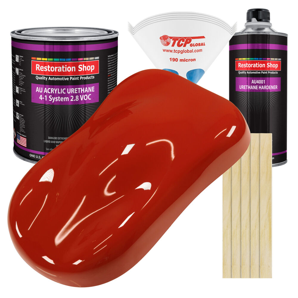 Scarlet Red Gallon Kit Single Stage Acrylic Urethane Car
