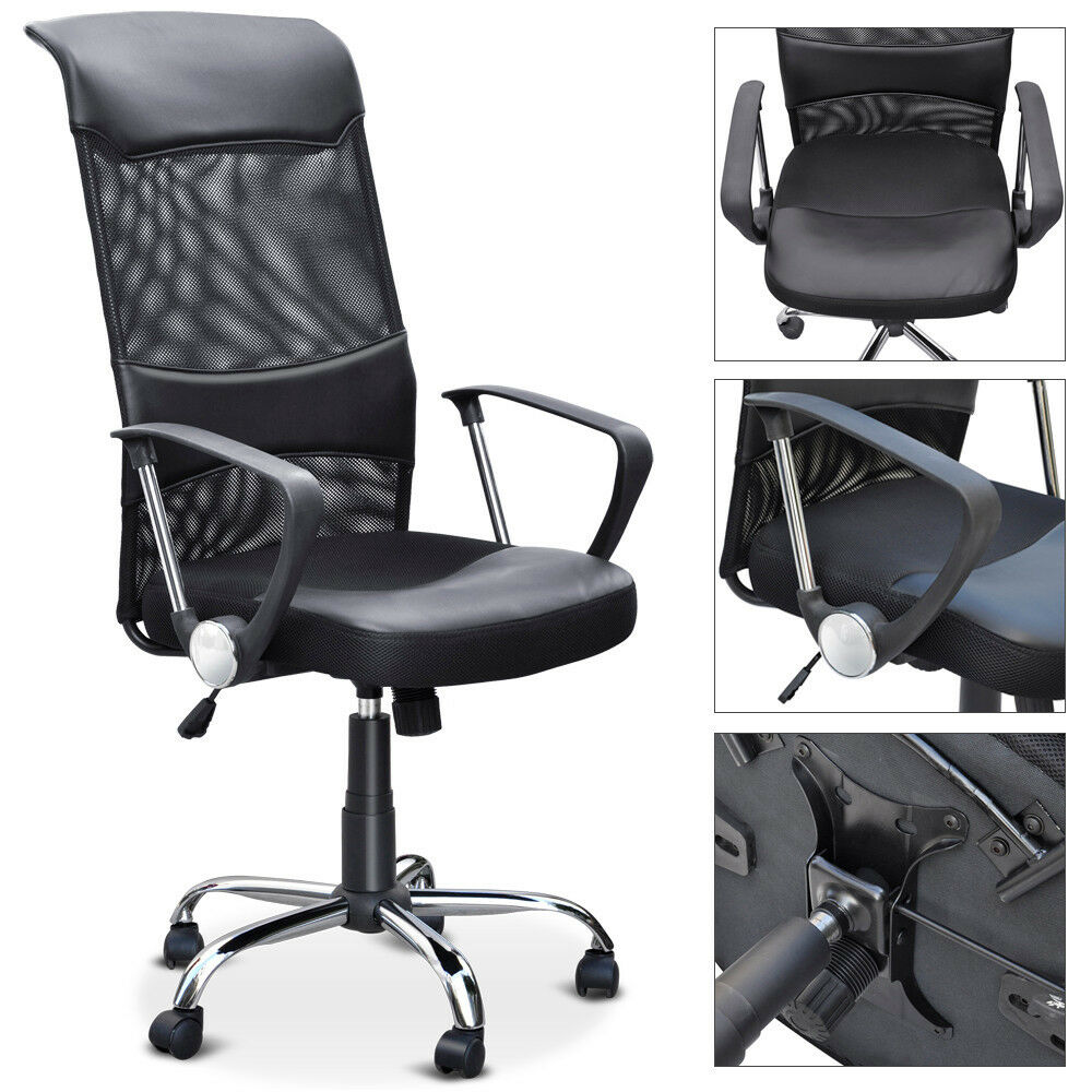 new black executive high back office mesh chair swivel