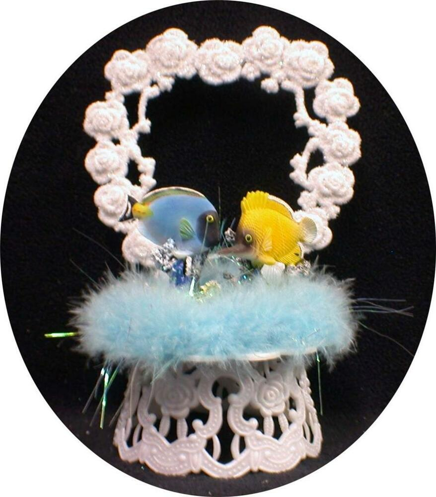 sea wedding cake toppers tropical fish sea wedding cake topper top 19732