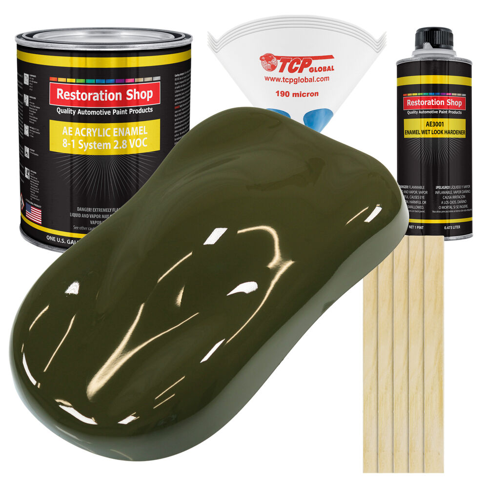 Olive Drab Gallon Kit Single Stage Acrylic Enamel Car Auto