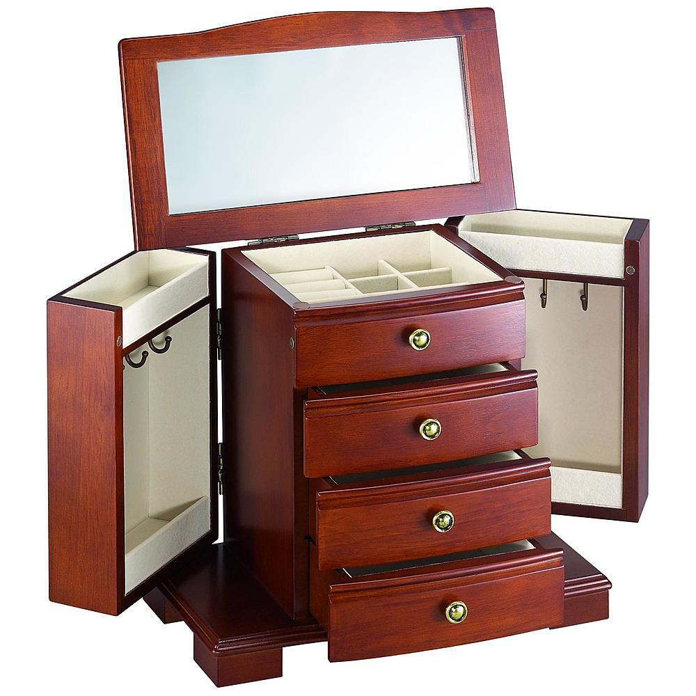 Wood Drawer Boxes ~ New stacked wooden jewelry box storage case organizer