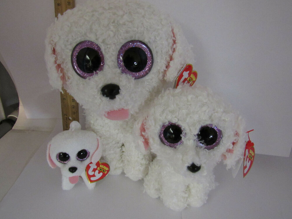 3 Pc Lot Set 2016 Ty Pippie The Dog Beanie Boos Buddy Med