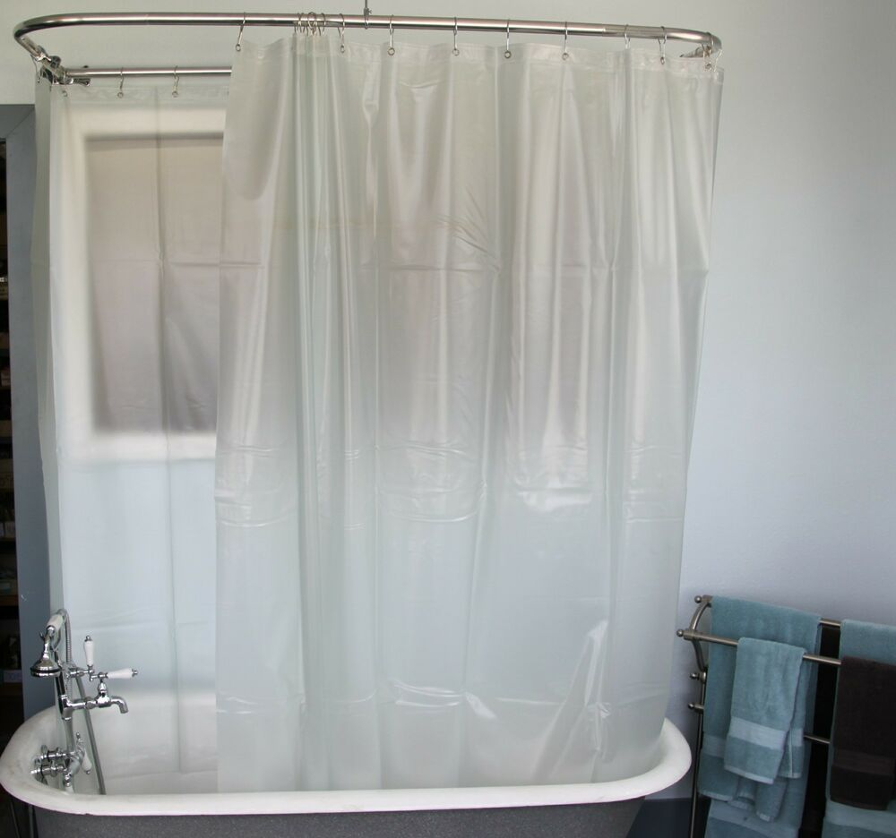 Heavy Duty Extra Wide Shower Curtain For A Clawfoot Tub
