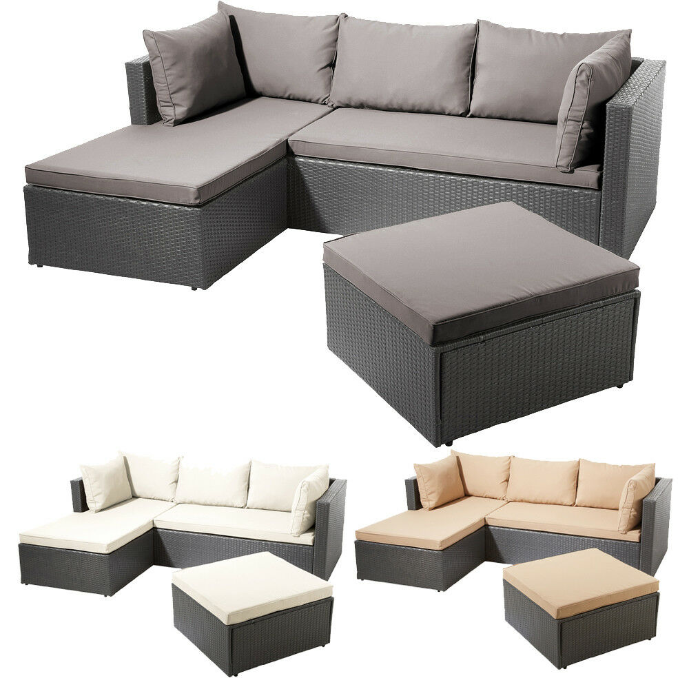 poly rattan garnitur sitzgruppe lounge m bel sofa. Black Bedroom Furniture Sets. Home Design Ideas