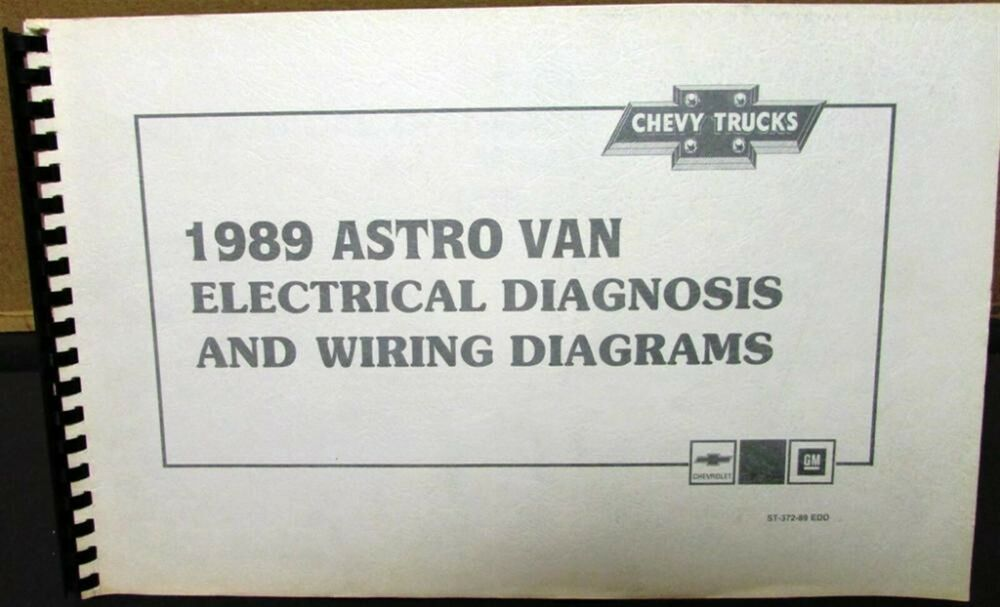 1989    Chevrolet Electrical    Wiring       Diagram    Dealer Service Manual Astro Van Model   eBay