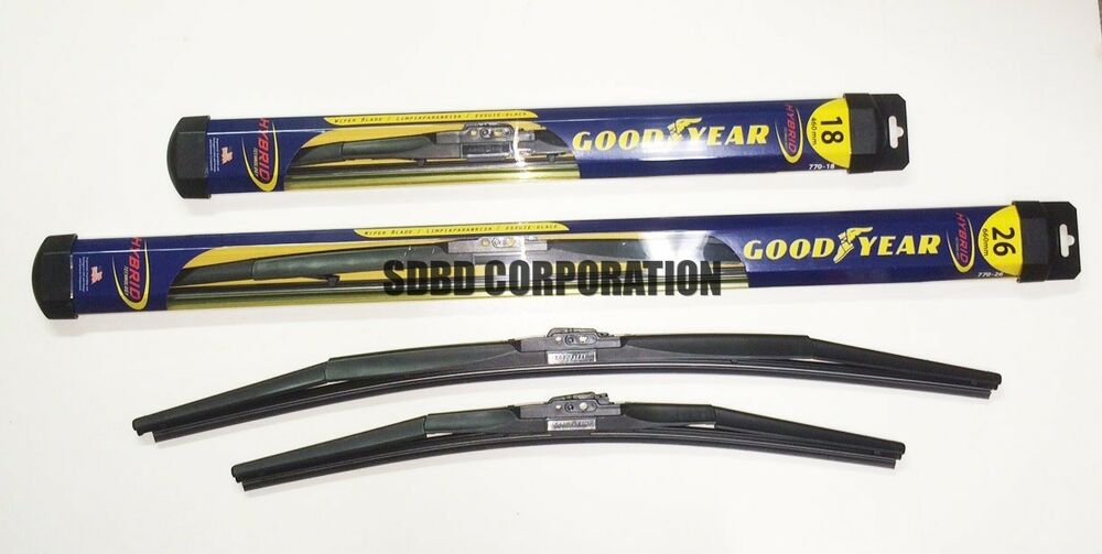 2012 late 2014 toyota camry goodyear hybrid style wiper blade set of 2 ebay. Black Bedroom Furniture Sets. Home Design Ideas