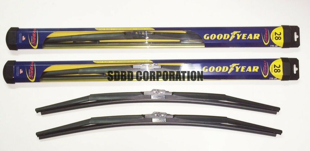 2012 2014 ford focus goodyear hybrid style wiper blade set of 2 ebay. Black Bedroom Furniture Sets. Home Design Ideas