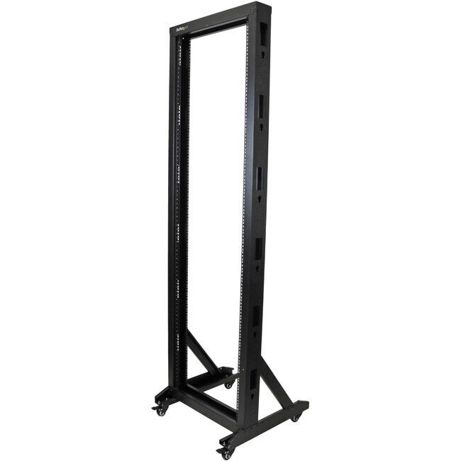 startech 2 post server rack with casters 42u ebay 89596