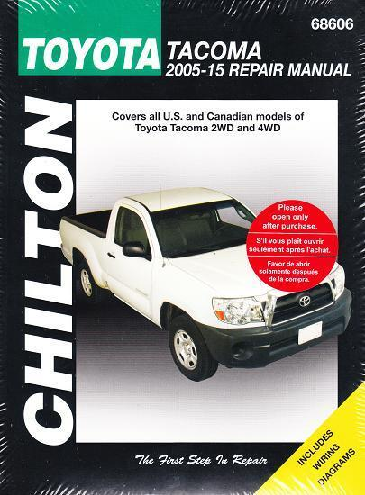 2005-2015 Toyota Tacoma 2WD 4WD Chiltons Service Repair Workshop Manual  269X 9781620922699 | eBay
