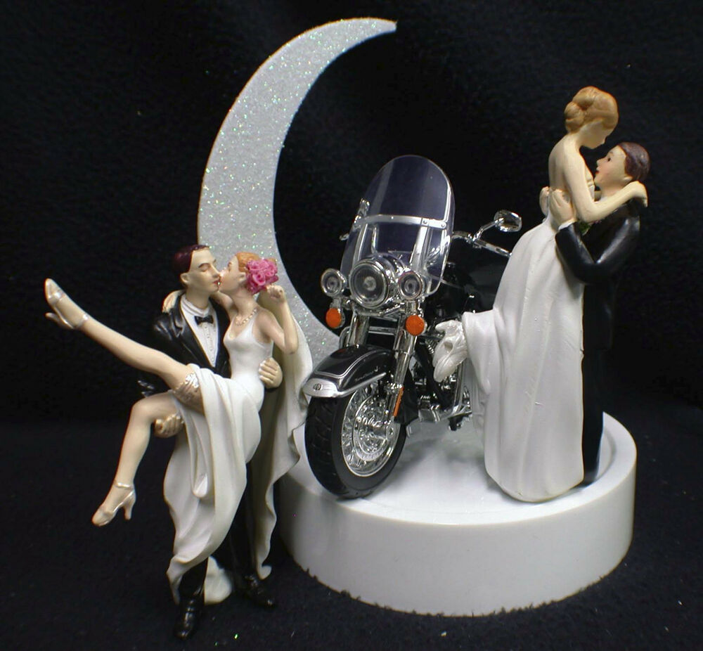 harley davidson road king wedding cake toppers wedding cake topper w harley davidson motorcycle black 15070