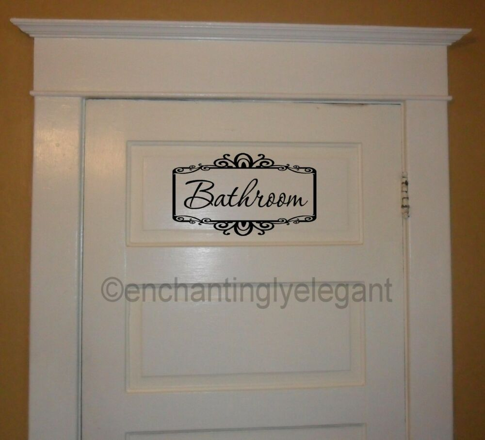 vinyl lettering for walls bathroom with scroll border vinyl decal wall sticker words 25439 | s l1000