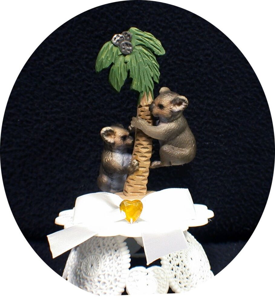 adorable Australia Koala Bear Wedding Cake Topper Top ...