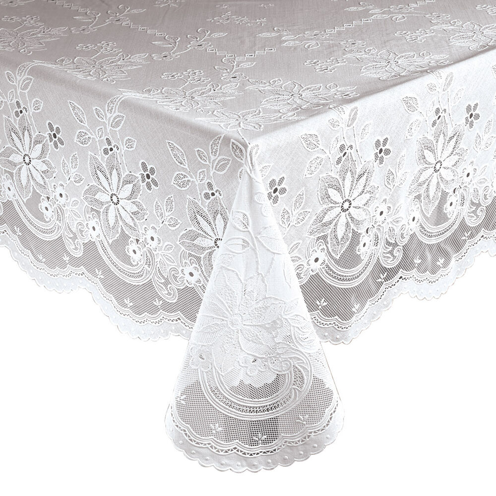 Vinyl lace table cover tablecloth 60 x 90 oblong dining for Table cuisine 90 x 60