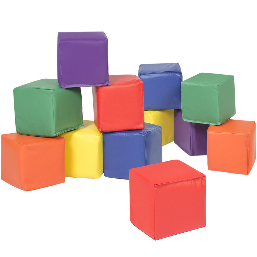 Bcp 12pc Soft Big Foam Blocks Play Set Sensory Gross Motor