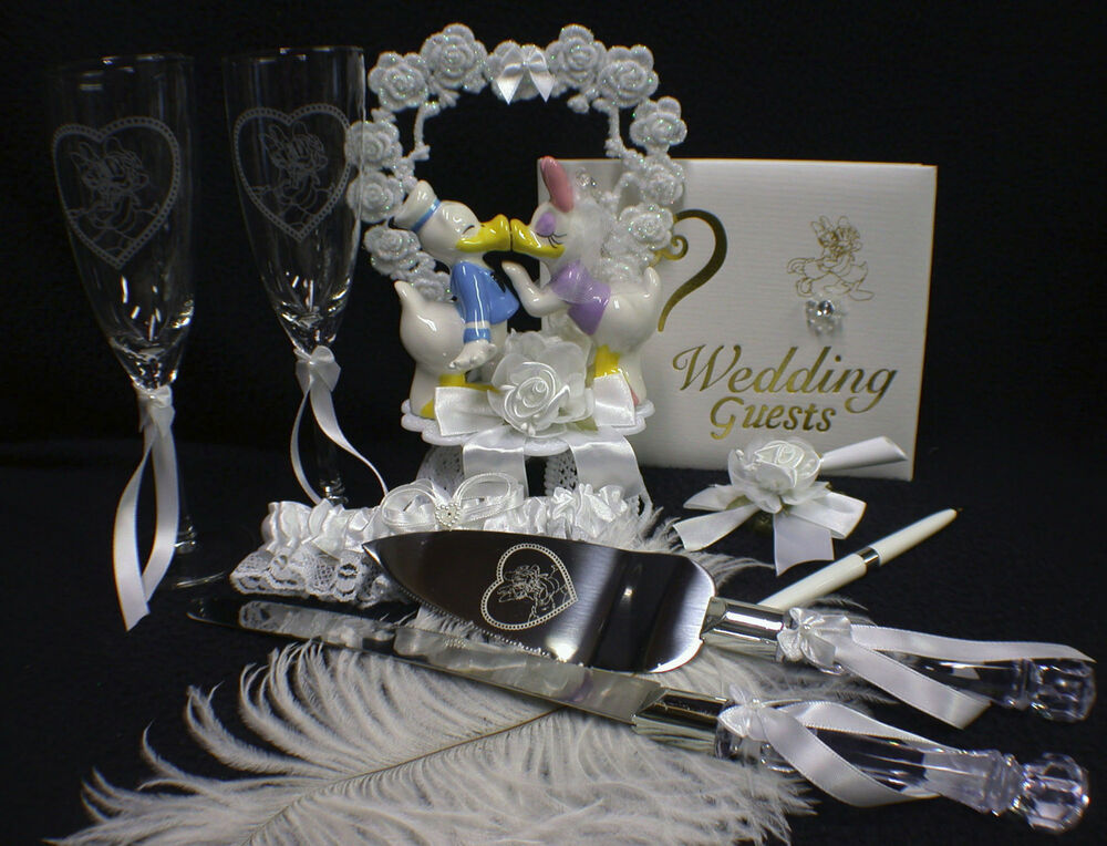 Donald Duck Amp Daisy Disney YOUR Choice Wedding Cake Topper Knife Set Or Book