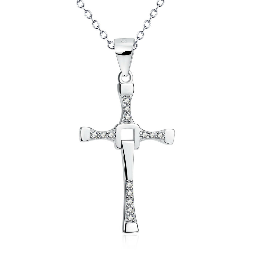 925 sterling silver fast and furious men 39 s cross pendant. Black Bedroom Furniture Sets. Home Design Ideas
