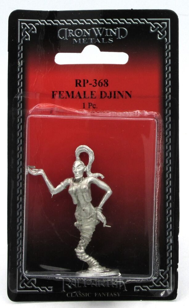 1983 Vintage Ral Partha 2 25 Cyclops Pewter Figure Statue: Ral Partha RP-368 Female Djinn (1) 25mm Miniature Air