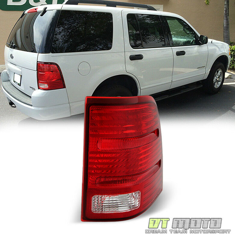 02 05 ford explorer 4 dr replacement tail lights taillamps passenger. Black Bedroom Furniture Sets. Home Design Ideas