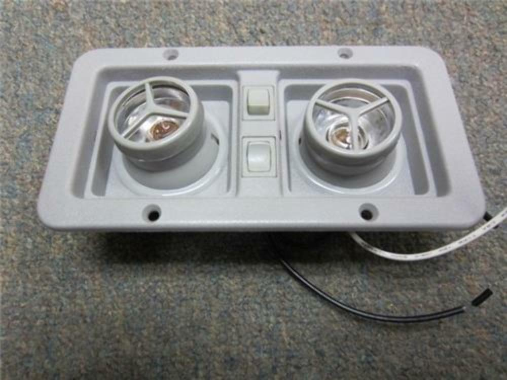 New conversion van gray plastic interior ceiling dome Converting rv interior lights to led