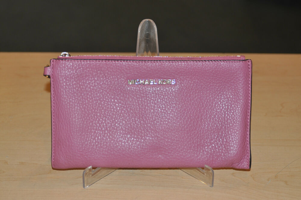 Michael Kors Pink Bedford Large Zip Clutch * Pre-owned* FREE SHIPPING ...
