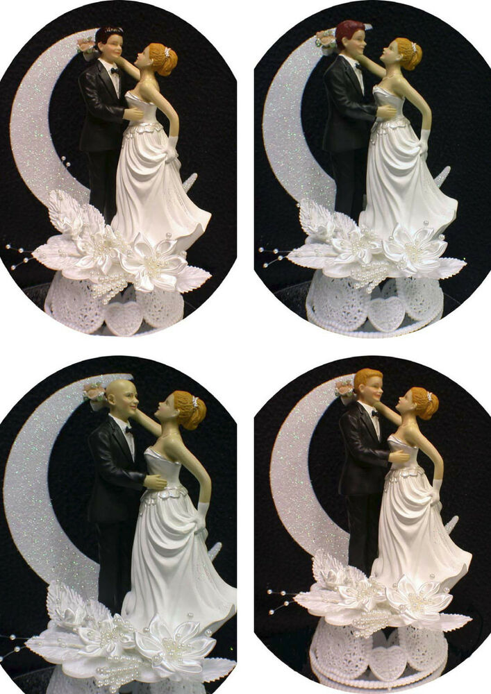 wedding cake toppers red hair groom blond hair wedding cake topper blond or 26587