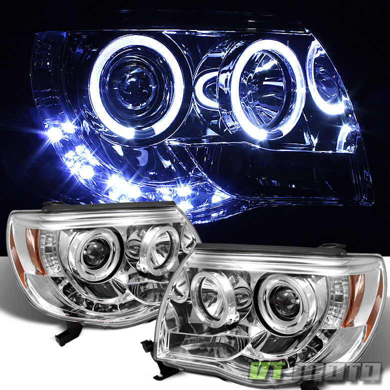 2005 2011 Toyota Tacoma Pre Runner Led Drl Halo Projector