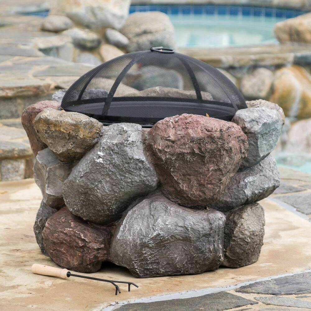 Outdoor Natural Stone : Outdoor garden natural stone style round liquid propane