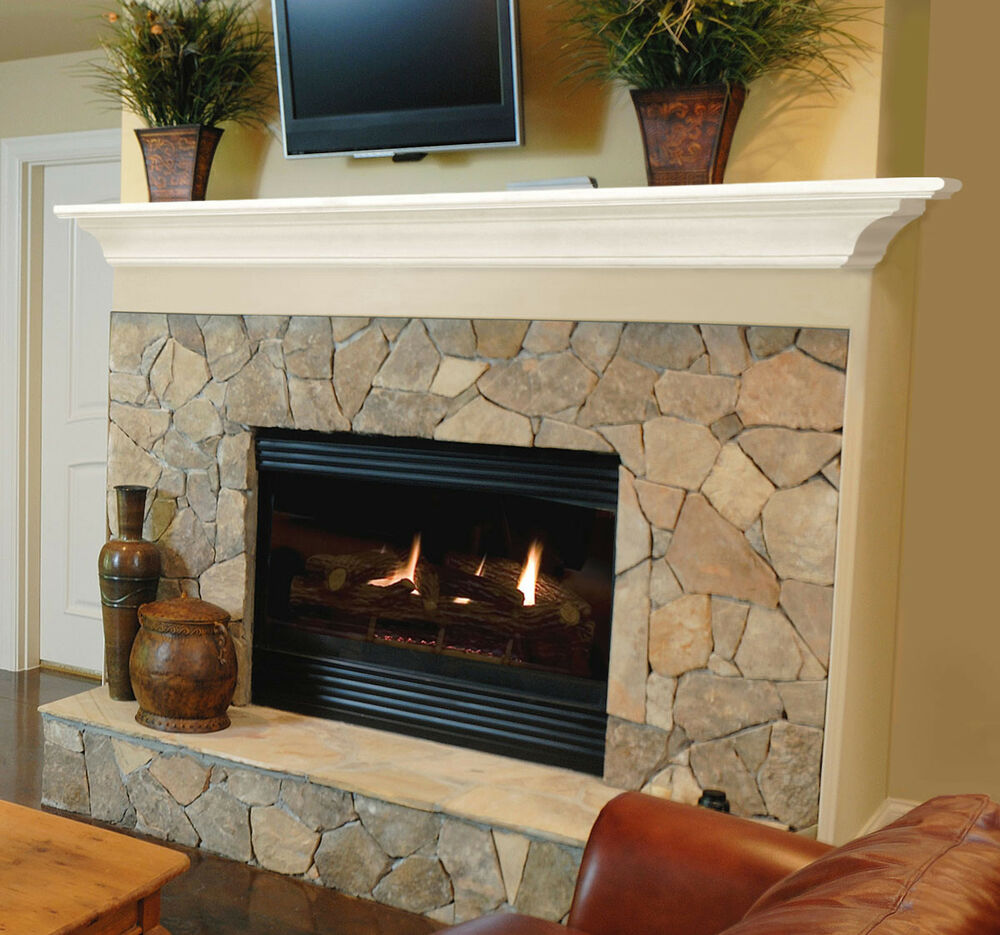 Pearl mantels the crestwood 72 618 72 fireplace mantel - Stone fireplace surround ideas ...