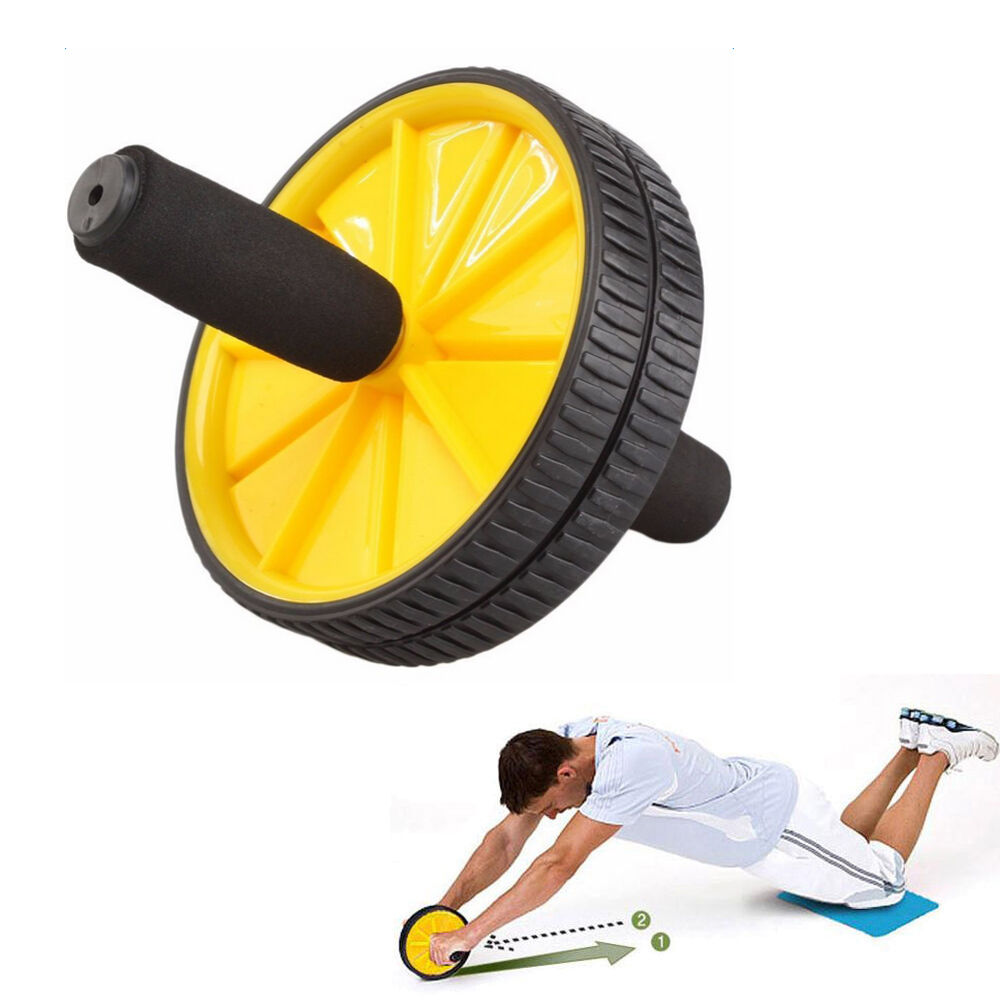 dual ab wheel for abs abdominal roller workout exercise. Black Bedroom Furniture Sets. Home Design Ideas