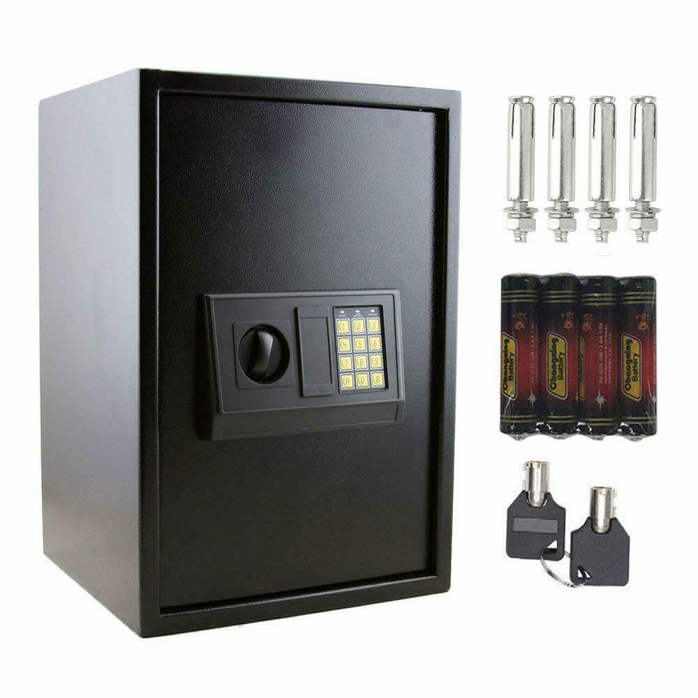 new large digital electronic safe box keypad lock security home office black us ebay. Black Bedroom Furniture Sets. Home Design Ideas