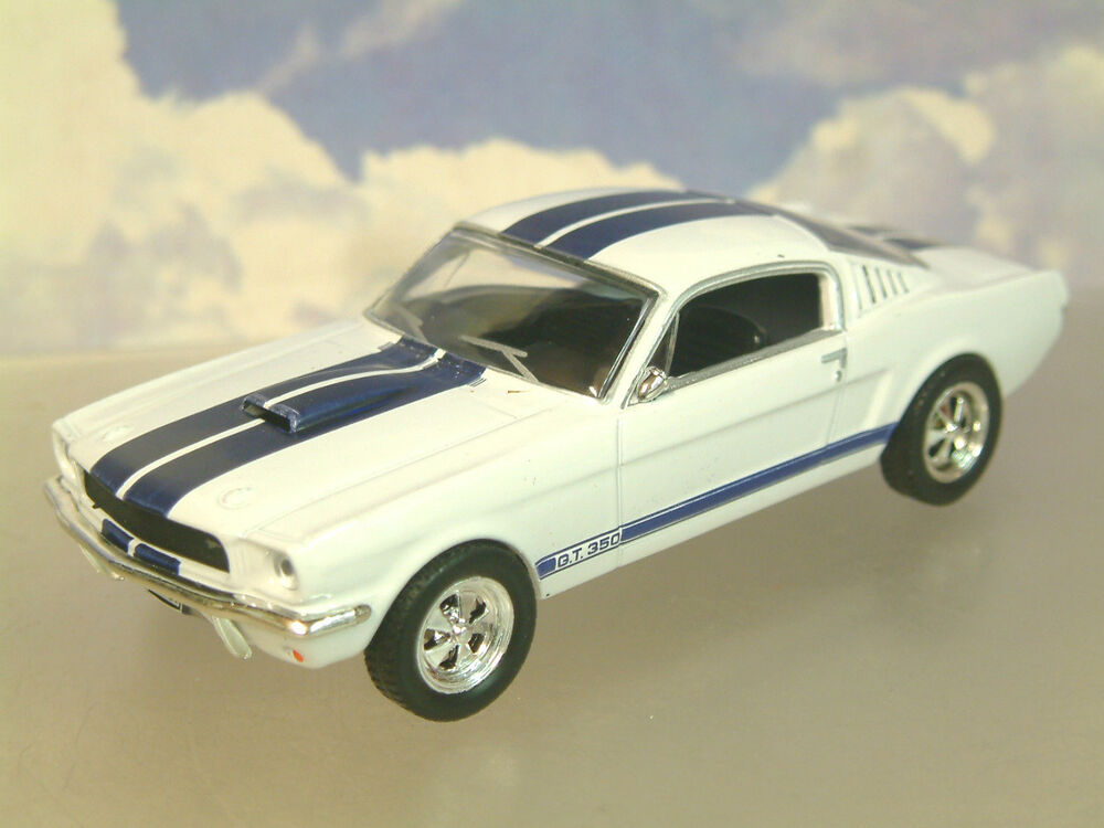 Shelby Ford Trucks >> PARTWORK DIECAST 1/43 1965-6 FORD SHELBY MUSTANG 350GT 350 GT WHITE/BLUE STRIPES | eBay