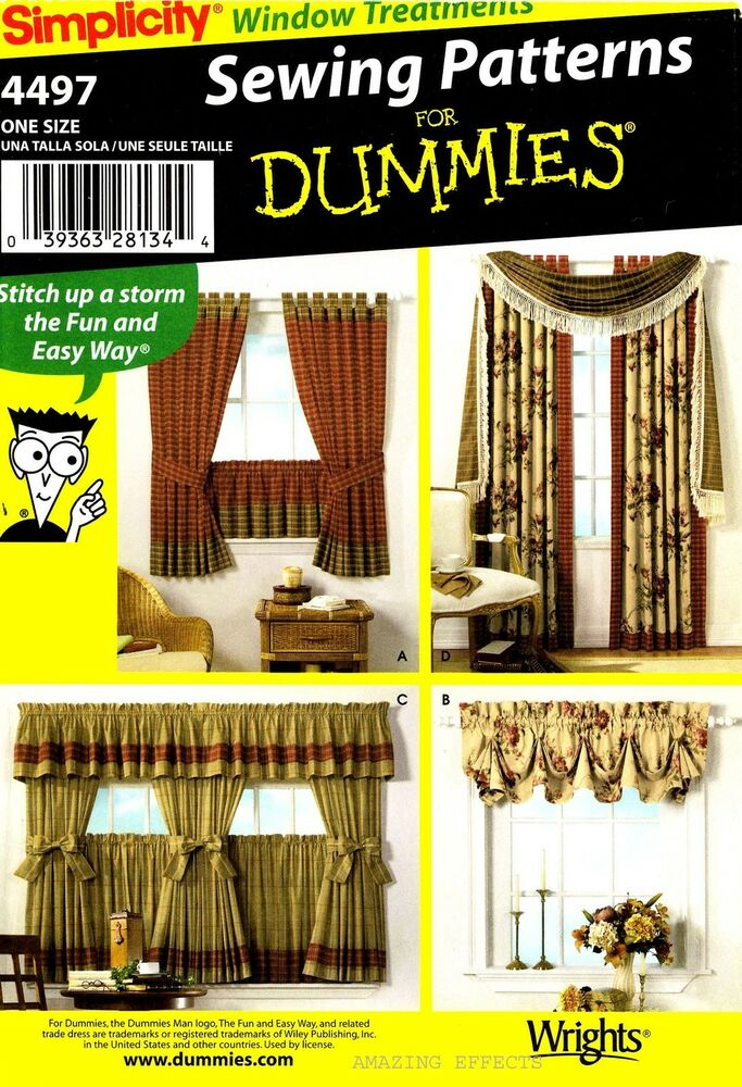 Simplicity Sewing Pattern 4497 Window Treatment Valance