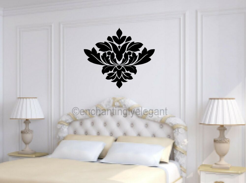 damask embellishment vinyl decal wall sticker master