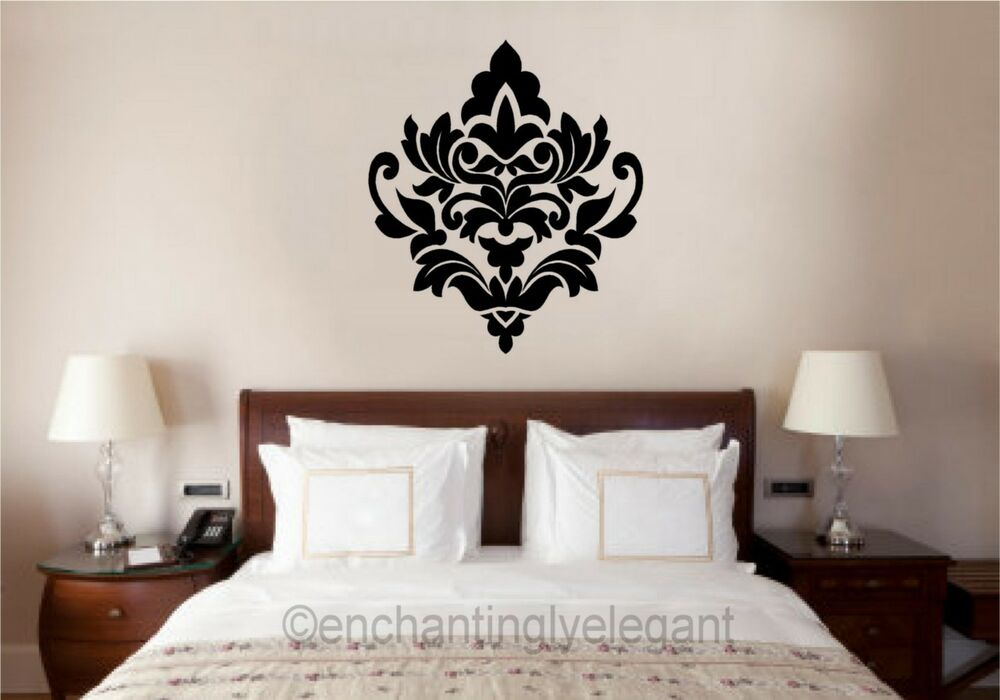 Damask embellishment vinyl decal wall sticker master - Wall sticker ideas for living room ...