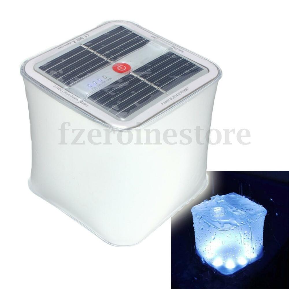 Ourdoor Inflatable Solar Cube Lantern Light Camping Travel Emergency Waterpro