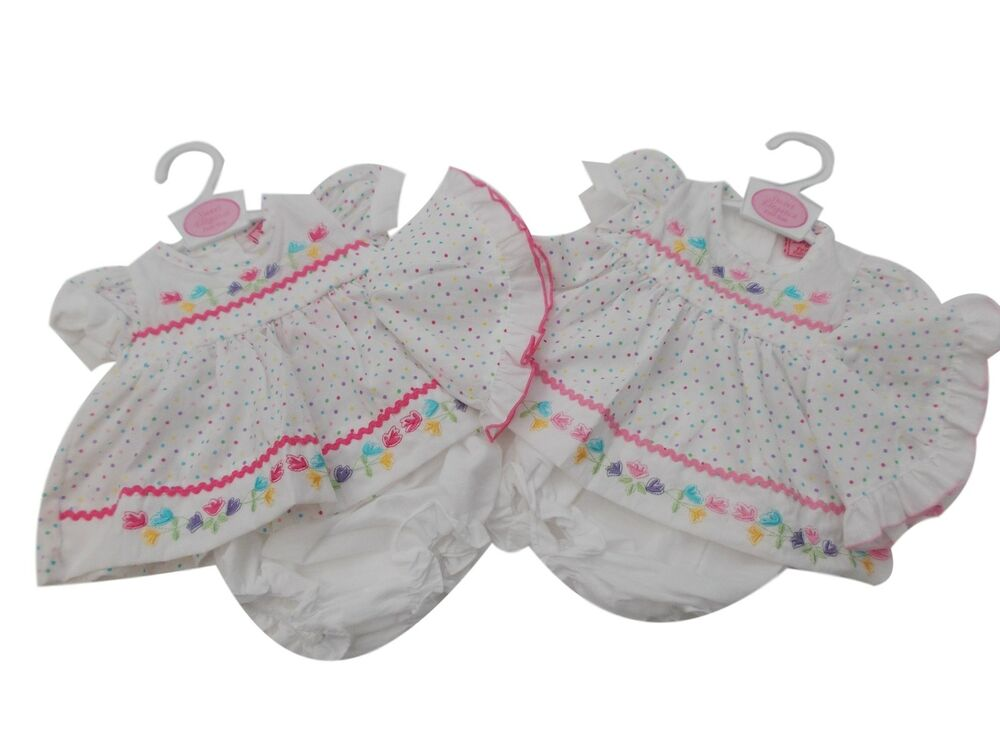 BNWT Tiny Baby NB Premature Preemie Baby Girls spotty 3