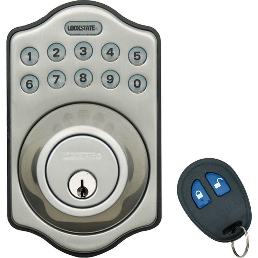 Lockstate Db500r Keyless Electronic Deadbolt With Remote