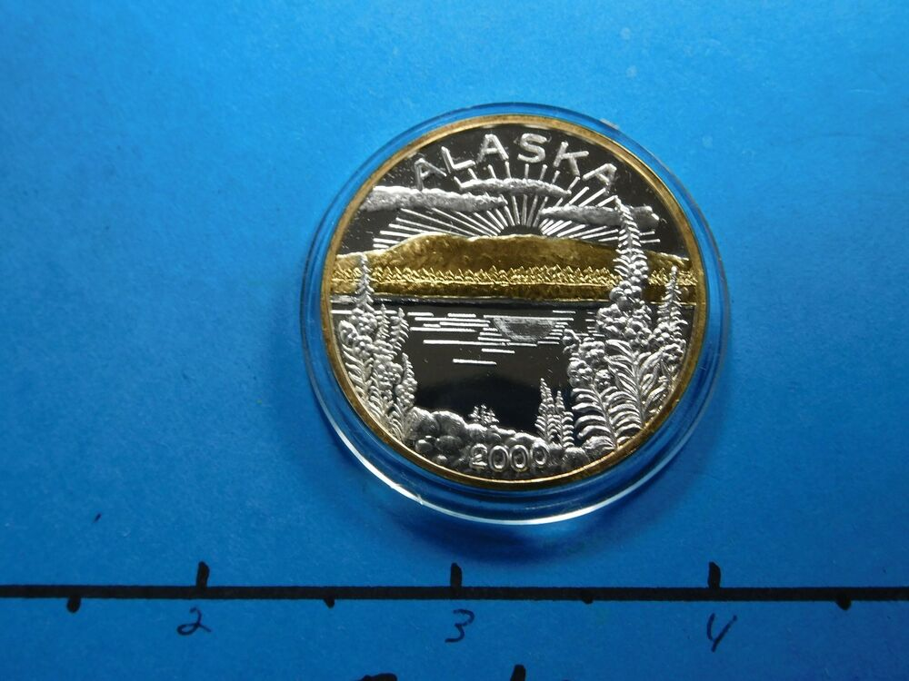 Alaska Mint The Last Frontier 999 Silver Gold Coin Round