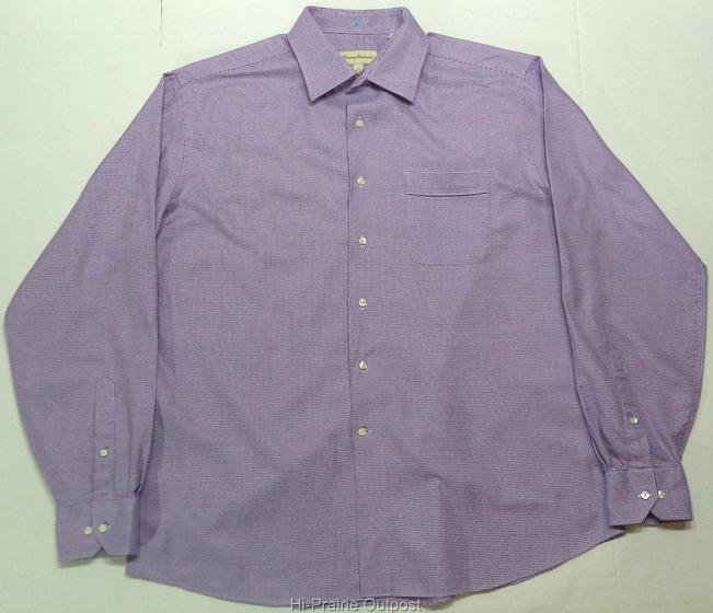 Tommy bahama long sleeve button down houndstooth purple for Tommy bahama long sleeve dress shirts