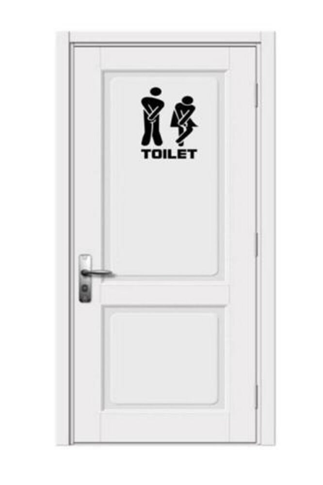 Toilet Sign Men Women Restroom Sign Door Sign Funny Toilet Door Sticker Bathroom Ebay