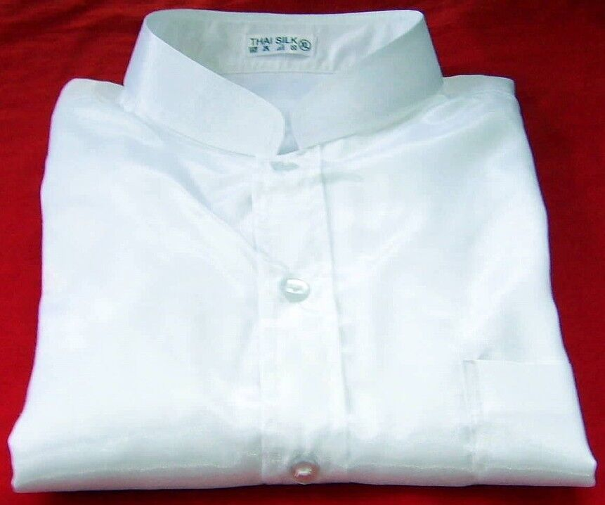 Mens Long Sleeve White Linen Shirt