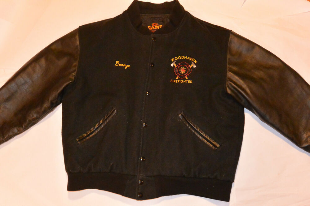 Fire Dept Firefighter S Embroidered Jacket Logos Front