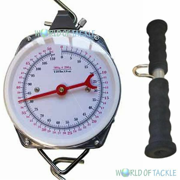 Specimen fishing scales and weigh bar up to 110lb 50kg for Fish weighing scales