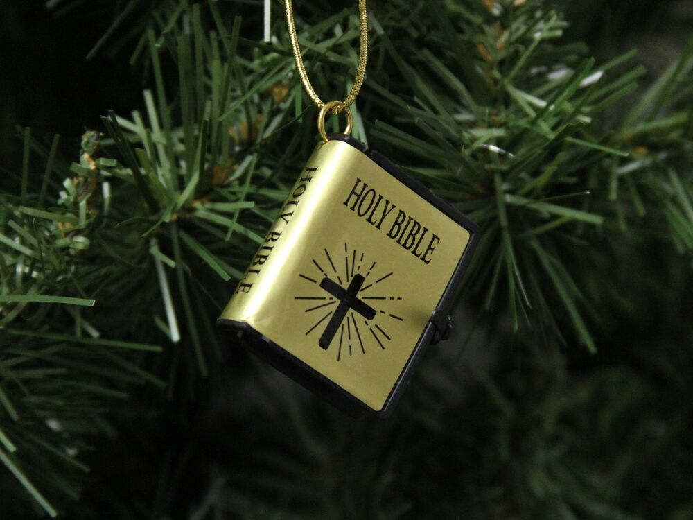 small holy bible christmas ornament  style  2