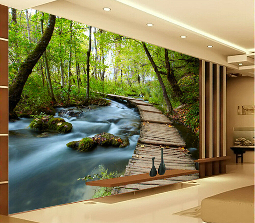 3D Wallpaper Bedroom Mural Modern Embossed Scenery TV