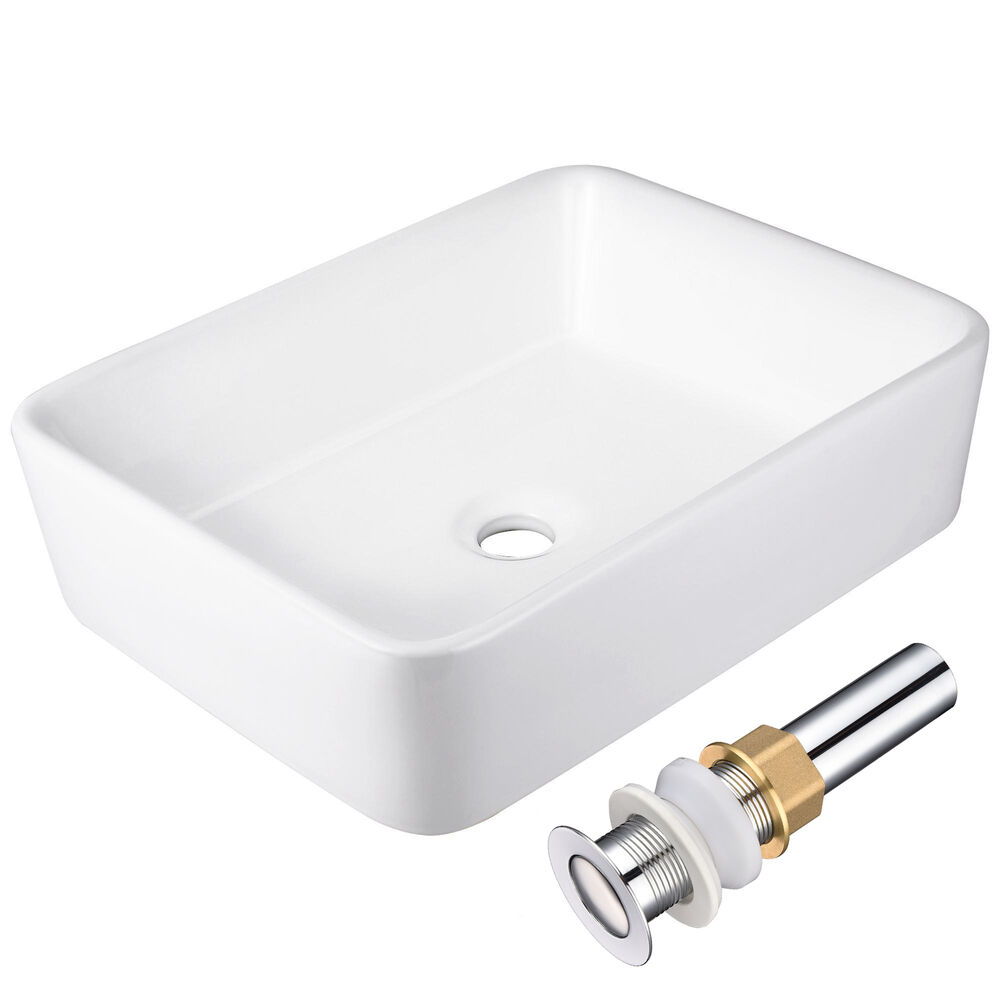 Pop up drain for vessel sink novatto 2 75 vessel sink for Yesler wall mount glass sink