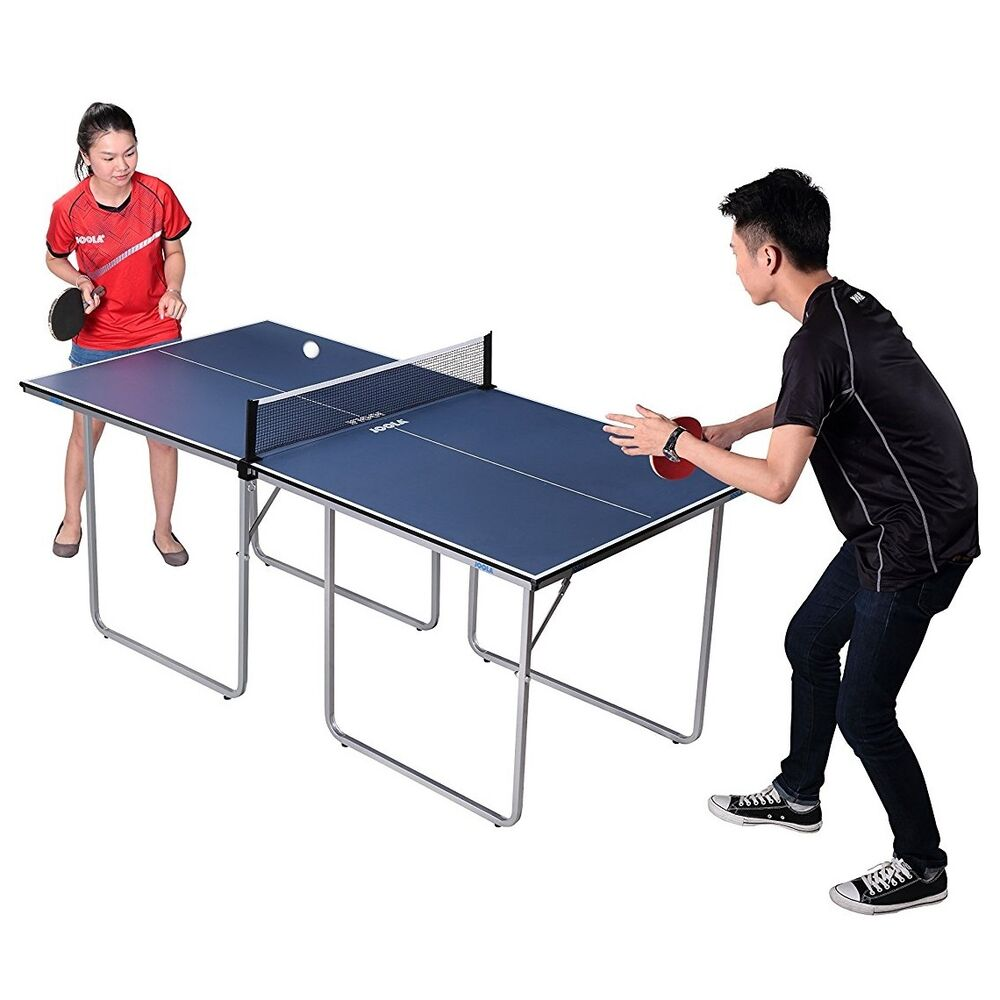 Joola Midsize Table Tennis Table With Net And Post Set In